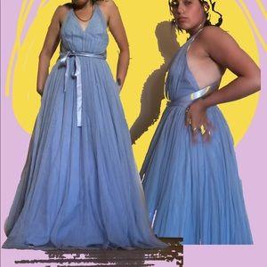 dusty blue cinderella dress